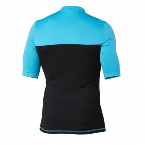 Quiksilver Wetsuits Chop Block Short Sleeve Rash Guard - Cyan Blue