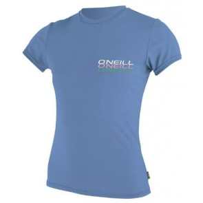 O'Neill Women's Solid S/S Rash Tee - Periwinkle