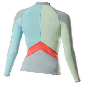 Roxy Women's Syncro 1.5mm Long Sleeve Jacket - Silver/Sea Foam