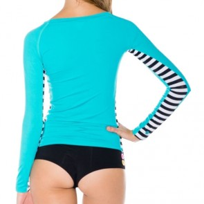 Volcom Women's Simply Solid Long Sleeve Rash Guard - Teal