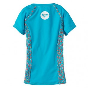 Roxy Youth Sand Blossom Rash Guard - Caribbean