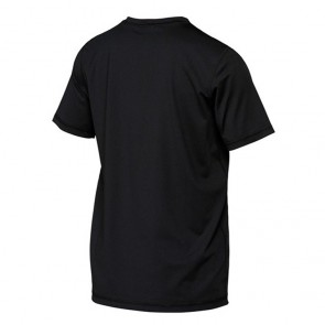 Quiksilver Wetsuits Youth Solid Streak Short Sleeve Rash Guard - Black/Green