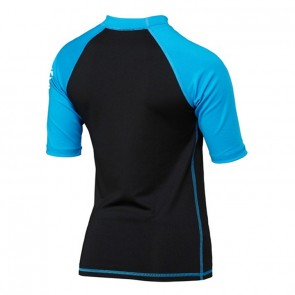 Quiksilver Wetsuits Youth All Time Short Sleeve Rash Guard - Cyan