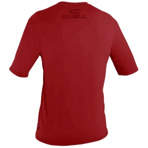 CLEARANCE O'Neill Basic Skins Rash Tee - Dark Red