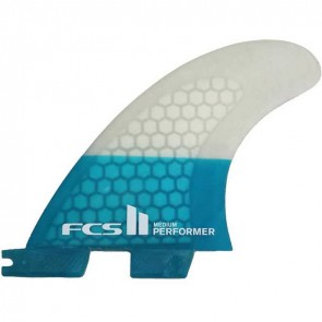 FCS II Fins - Performer PC Medium - Blue/Clear Hex