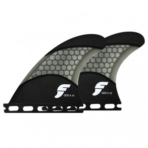 Futures Fins - QD2 4.15'' Quad Rears Techflex - Carbon/Smoke