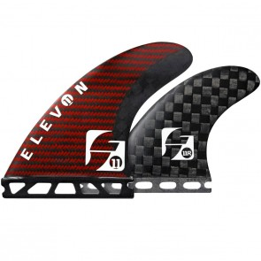 Futures Fins - Elevon Quad Small - Black/Red Carbon Kevlar
