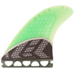 Kinetik Racing Fins - Parko Quad Carbon Ultra Future - Neon Aqua Green
