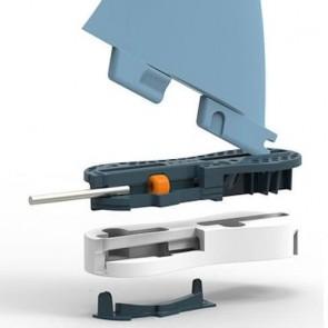 FCS II Fins Carver GF Quad Rears Medium - Blue