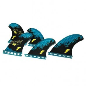 Futures Fins - Josh Mulcoy Tri Quad - Black/Blue Hex