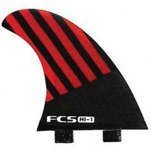 FCS Fins - HI-1 PC Quad - Red/Black Hex