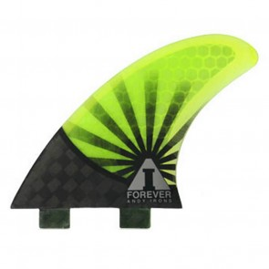 Kinetik Racing Fins - Andy Forever 2.1 Carbon Ultra FCS - Neon Green/Black
