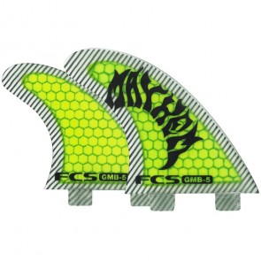 FCS Fins - GMB PC Tri-Quad - Neon Green/Black Hex