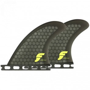 Futures Fins - QD2 4.0'' Quad Rears - Smoke
