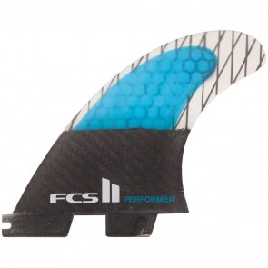FCS II Fins - Performer PC Carbon Small - Blue/Black Hex