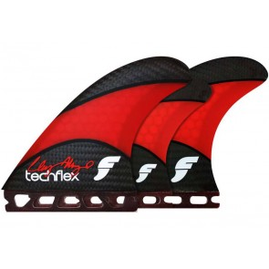 Futures Fins - Clay Marzo 2 Techflex Tri-Quad - Red Hex