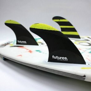Futures Fins - John John SS Techflex - Cyan/Yellow