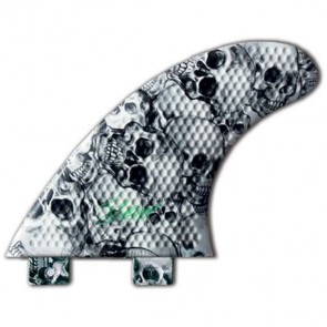 3D Fins - Tri Medium 5.0 Twin Tab - Skull Duggery