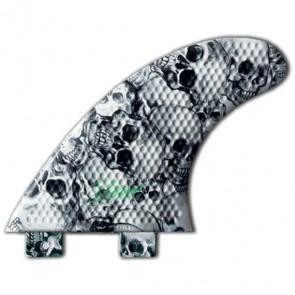 3D Fins - Tri Medium 5.0 Twin Tab - Skull Duggery