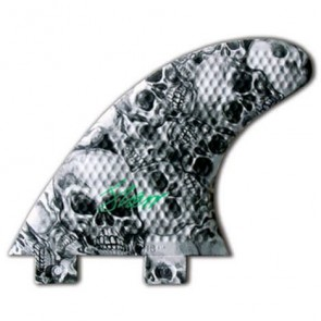 3D Fins - Tri Small Twin Tab - Skull Duggery