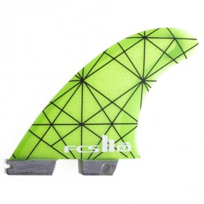 FCS II Fins - KA PC Medium - Neon Green/Smoke