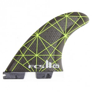 FCS II Fins - KA PC Small - Neon Green/Smoke