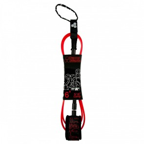 Channel Islands - Conner Coffin Comp Hex Cord Leash - Black/Red