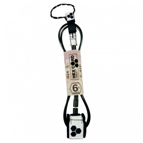 Channel Islands - Hex Cord Standard Leash - White/Black