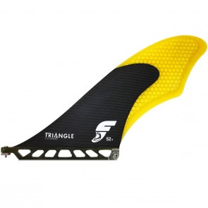 Futures Fins - Triangle Cutaway Medium SUP Fin - Carbon/Yellow