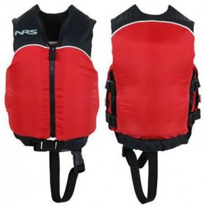 NRS - Child Crew Universal PFD Vest - Black/Red