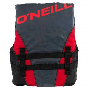 O'Neill - Youth Superlite USCG PFD Vest - Metallic/Red/Black