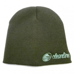 Cleanline Cursive Short Beanie - Charcoal/Teal