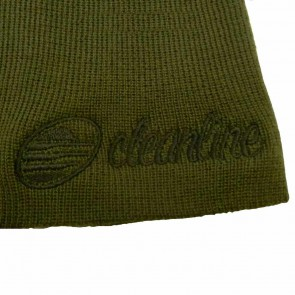 Cleanline Cursive Short Beanie - Olive/Black