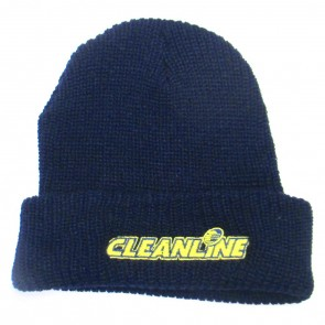 Cleanline Corp Logo Long Beanie - Navy/Yellow