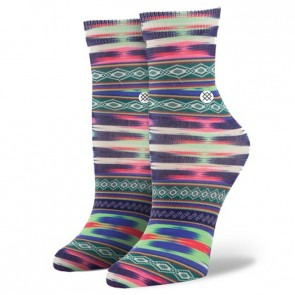Stance Women's Crazy Eights Socks - Cream/Green/Purple