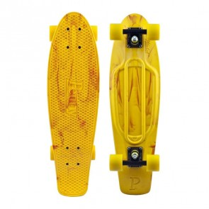 "Penny Skateboards - Marble Nickel 27"" Skateboard Complete - Yellow Orange"