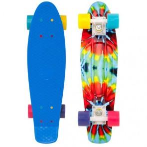 "Penny Skateboards - Tie Dye Penny 22"" Skateboard Complete - Blue/White/Multi"