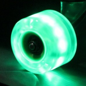Sunset Skateboards - 65mm Flare Longboard LED Wheels - Green