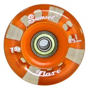 Sunset Skateboards - 65mm Flare Longboard LED Wheels - Orange
