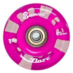 Sunset Skateboards - 65mm Flare Longboard LED Wheels - Purple