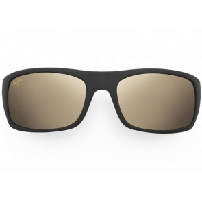 Maui Jim Peahi Sunglasses - Matte Black/HCL Bronze