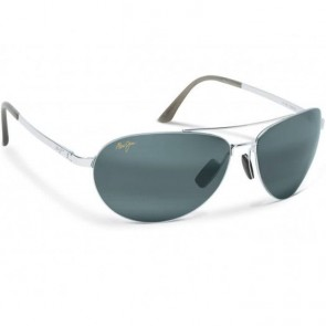 Maui Jim Pilot Sunglasses - Silver/Neutral Grey