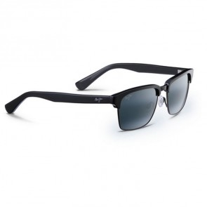 Maui Jim Kawika Sunglasses - Black Gloss with Antique Pewter/Neutral Grey