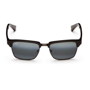 Maui Jim Kawika Sunglasses - Black Gloss with Antique Pewter/Neutral Grey