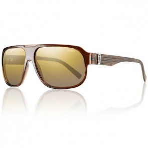 Smith Gibson Sunglasses - Brown Wood/Gold Gradient Mirror Polarized