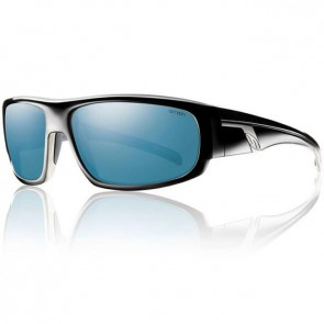 Smith Terrace Sunglasses - Black/Blue Mirror Polarized