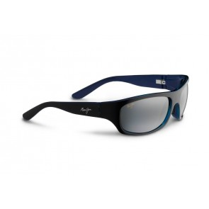 Maui Jim Surf Rider Sunglasses - Black/Blue/Natural Grey