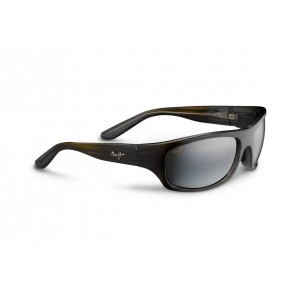 Maui Jim Surf Rider Sunglasses - Grey Black Stripe/Natural Grey