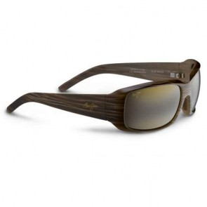 Maui Jim Blue Water Sunglasses - Dark Brown Stripe/HCL Bronze
