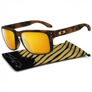 Oakley Holbrook Shaun White Sunglasses - Brown Tortoise/24k Gold Iridium
